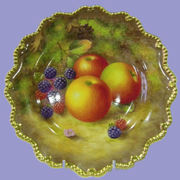 ROYAL WORCESTER HAND PAINTED FRUIT ITEMS
