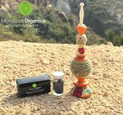 moroccan kohl powder for eyes handmade wooden applicator